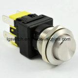 16Aロック19mmの金属の押しボタンスイッチを離れたの力4 Pin