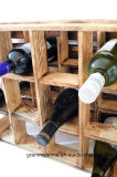 Het branden beëindigt Doos 12 van het Krat van de Wijn Houder van het Rek van de Wijn van de Fles de Houten Houten