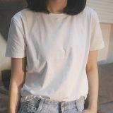 Commerce de gros Plain T-shirt en coton