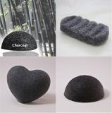 Vente à chaud de la beauté naturelle de charbon de bois de Bambou Konjac éponge faciale
