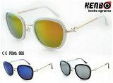 Горячее Sale Fashion Metal Sunglasses для УПРАВЛЕНИЕ ПО САНИТАРНОМУ НАДЗОРУ ЗА КАЧЕСТВОМ ПИЩЕВЫХ ПРОДУКТОВ И МЕДИКАМЕНТОВ Km15230 CE Lady