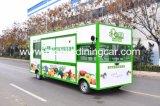 Fruits et légumes vendant le camion/chariot mobiles de nourriture