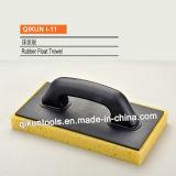 I-10 строительство декор краски оборудование ручной инструмент черная резиновая Trowel плавающего режима с резиновой нижней части