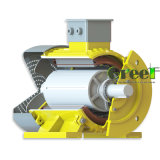 25kw 400rpm generador magnético, Fase 3 AC Generador magnético permanente, el viento, el uso del agua a bajas rpm
