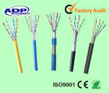 Напольный кабель LAN Ehternet FTP SFTP CAT6 списка 23AWG 0.57mm медный UTP испытания двуустки