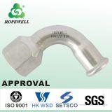 Les mesures sanitaires en acier inoxydable 304 316 Coude à filetage femelle