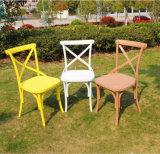 x 뒤 의자 플라스틱 식사 의자 수지 십자가 뒤 의자