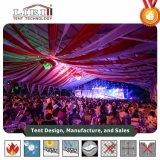 屋根のライニングおよびカーテンを持つ1000人のための30 x 60の玄関ひさしのテント