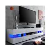 白く光沢度の高いLED TVの単位のキャビネットの立場