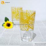 Tasse claire de thé de sublimation/cuvette en verre en verre de jus