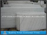 Assoalho de mármore branco de China Guangxi que pavimenta telhas para o banheiro decorativo