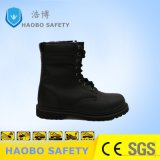 Мужчин работа нескользким покрытием и поручнями из натуральной кожи сапоги военных обувь