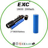 Batterie ricaricabili 3.7V 2000mAh dello ione 18650 del litio