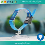 Singolo Cheap Customized Festival RFID Woven Fabric Wristband per Events