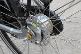 レトロの女性の市道のEバイクの電気バイクの自転車Eのスクーター100kmの範囲のShimanoの速度ギヤ