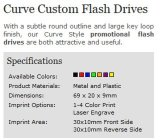 Kurve Custom Premium Plastic USB Flash Drive mit Your Logo (ALP-009U)