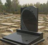 Het moderne Gesneden graniet van de Stijl van Rusland Moderne Zwarte nam de Grafstenen van de Bloem toe