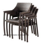 Outdoor Furniture Cheap Price Synthetic Rattan Cube 8-10 Pessoa mesa de jantar e cadeira (YTA581 e YTD020-13)