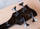 Гитара нот/4-String Hanhai черная электрическая басовая с 24 Frets