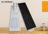 Einteilige Solarstraßenlaternemit eingebautem Lithium-Batterie-Bewegungs-Fühler