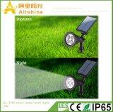 Controle claro e de indução de PIR luz solar da parede do gramado
