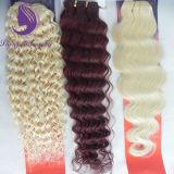 #613深く波状のブロンドカラーブラジルにバージンの人間の毛髪の編むこと