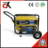 Generador de gasolina de 5 kw (Set) con asa y ruedas de 8'