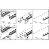 Perfil do alumínio da tira do diodo emissor de luz