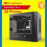Полностью металлический Ecubmaker большой объем печати Double-Color сборки 3D-принтер с High-Temp. Накладку экструдера