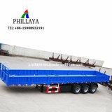 側面の取り外し可能な容器の貨物輸送のトラック半40FTの平面のトレーラー