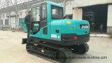Nuevo excavador del excavador de la rueda Bd80 de China mini/del precio del excavador