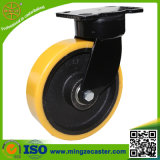 rueda industrial resistente del arrabio de la PU del echador del eslabón giratorio de 150m m