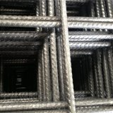溶接金属の棒鋼の網(工場)を補強する変形させたワイヤー