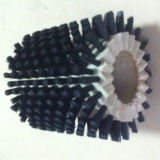 Cepillo redondo del alambre de nylon negro de la alta calidad 150m m (YY-305)