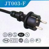 Cabo de alimentação aprovado pelo VDE com cabo de extensão de plug Ice13 (JT003-F)
