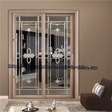 Schuifdeur van het Frame van het Aluminium van de luxe de Binnenlandse met het Glas van de Kunst
