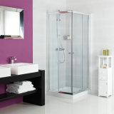 Cabina de la esquina compensada anodizada de la ducha del recinto de la ducha de la entrada del aluminio