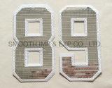 Número de moda Carta Paillette personalizados bordados para vestuário Sequin Patches