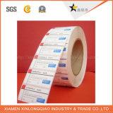 투명한 플라스틱 PVC의 인쇄를 유리제 접착성 서류상 Barcode 스티커 레테르를 붙이십시오