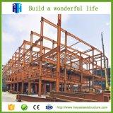 Edificio prefabricado del chalet de la casa de la estructura de la construcción de acero del marco
