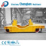 Carrello piano elettrico pesante di trasferimento della guida di maneggio del materiale di industria da vendere