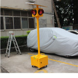 Trolly Mobile Signal Light 200mm Portable Solar Traffic Light