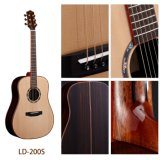 Guitarra acústica superior sólida popular del palo de rosa B&S