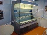 Refrigerador abierto de la visualización de Multideck del compresor incorporado para los vehículos y las frutas