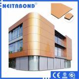 Panneau composé en aluminium pour la façade de bâtiment de mur rideau avec le GV