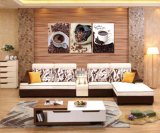 2016 cuadros modernos de la sala de estar de los diseños de madera del sofá
