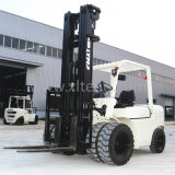 A parte dianteira do dobro do Forklift de China cansa o Forklift do diesel de Opitional 5t