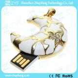귀여운 달 모양 굽기 와니스 보석 USB 펜 드라이브 (ZYF1903)
