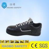 Профессиональные новой конструкции из натуральной кожи черного цвета обувь со стальным носком