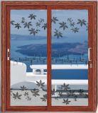 Современный дизайн и тепло доказательства алюминиевых двойные стекла боковой сдвижной двери